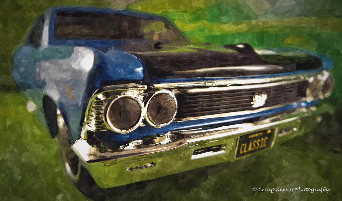Classic Muscle Car - Watercolour Photography